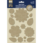 Naturals Collection - Burlap Stickers - Flowers and Leaves by Little Yellow Bicycle