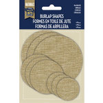 Little Yellow Bicycle - Naturals Collection - Burlap Shapes - Circles