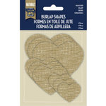 Little Yellow Bicycle - Naturals Collection - Burlap Shapes - Hearts