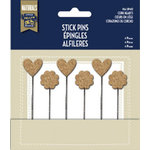 Little Yellow Bicycle - Naturals Collection - Stick Pins - Cork Hearts