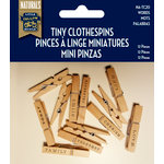 Little Yellow Bicycle - Naturals Collection - Tiny Clothespins - Words