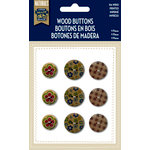 Little Yellow Bicycle - Naturals Collection - Wood Buttons - Printed
