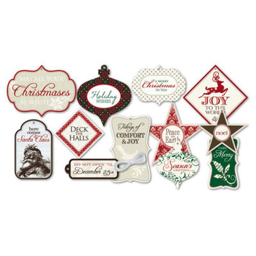 Little Yellow Bicycle - Once Upon a Christmas Collection - Tags with Embossed Accents and String
