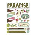 Deja Views - C-Thru - Little Yellow Bicycle - Paradise Collection - Fabric Stickers - Favorites