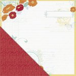 Little Yellow Bicycle - Poppy Collection - 12 x 12 Double Sided Paper - Garden Journal