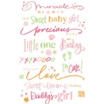 Deja Views Wonderful Words Color Splash Rub-Ons - Baby Girl