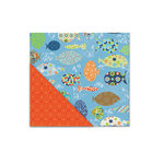 Deja Views - C-Thru - Little Yellow Bicycle - Splash Collection - 12 x 12 Double Sided Textured Paper - Big Fishies