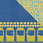 Deja Views - C-Thru - Little Yellow Bicycle - Sweet Summertime Collection - 12 x 12 Double Sided Textured Paper - Lemonade Stand