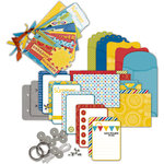 Deja Views - C-Thru - Little Yellow Bicycle - Sweet Summertime Collection - Envelope Album Kit