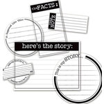 Deja Views - C-Thru - Little Yellow Bicycle - Say What Collection - Clear Cuts - Journaling Pieces - The Story, CLEARANCE