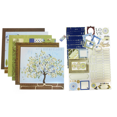 Deja Views - C-Thru - Little Yellow Bicycle - 12 x 12 Page Kit - Family Tree