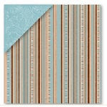 Deja Views - Timeless Collection - 12x12 Double Sided Paper - Blue Stripe