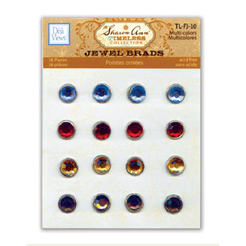 Deja Views - Timeless Collection - Framed Jewel Brads - Multicolors, CLEARANCE