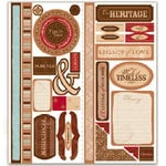 Deja Views - Timeless Collection - Self-Adhesive Cardstock Die-Cuts - Heritage, CLEARANCE