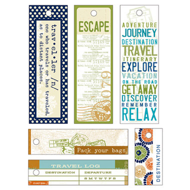 Deja Views - C-Thru - Little Yellow Bicycle - Traveler Collection - Fabric Tags