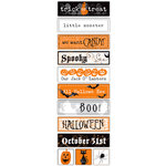 Deja Views - C-Thru - Little Yellow Bicycle - Trick or Treat Collection - Halloween - Chipboard Stickers - Words, BRAND NEW