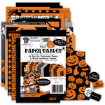Deja Views - C-Thru - Little Yellow Bicycle - Trick or Treat Collection - Halloween - Die Cut Paper Tablet - Haunted House - 5 x 7 , CLEARANCE