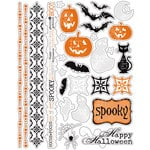 Deja Views - C-Thru - Little Yellow Bicycle - Trick or Treat Collection - Halloween - Clear Stickers with Glitter Accents, CLEARANCE