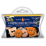 Deja Views - C-Thru - Little Yellow Bicycle - Trick or Treat Collection - Halloween - Epoxy Chipboard Buttons, CLEARANCE