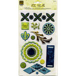 Deja Views - C-Thru - Little Yellow Bicycle - Vita Bella Collection - Adhesive Chipboard - Embellishments, CLEARANCE