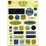 Deja Views - C-Thru - Little Yellow Bicycle - Vita Bella Collection - Epoxy Stickers - Words, CLEARANCE