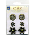 Deja Views - C-Thru - Little Yellow Bicycle - Vita Bella Collection - Metal Filigree Brads