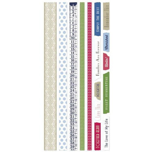 Little Yellow Bicycle - Vintage Summer Collection - Vellum Tape Strips