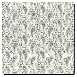 Deja Views - 12x12 Paper - Wedding - Grey Paisley