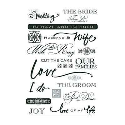 Deja Views - C-Thru - Wonderful Rub Ons - Wedding Day - Words