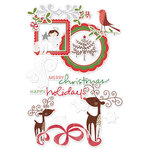 Deja Views - C-Thru - Little Yellow Bicycle - Wonder Wishes Collection - Christmas - Clear Cuts with Glitter Accents - Shapes