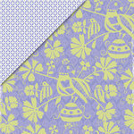 Deja Views - C-Thru - Little Yellow Bicycle - Zinnia Collection - 12 x 12 Double Sided Paper - Purple Birds, CLEARANCE