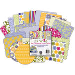 Deja Views - C-Thru - Little Yellow Bicycle - Zinnia Collection - Decorative Edge Tablet - 6 X 6 , BRAND NEW