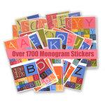 Die Cuts with a View - Monogram Alphabet Sticker Pack - 1716 Pieces
