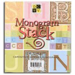 Die Cuts With A View - Cardstock Monogram Sticker Stack, CLEARANCE