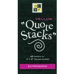Die Cuts With a View - Vellum Quote Stacks - Expressions, CLEARANCE