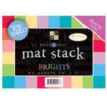 Die Cuts with a View - Cardstock Stack - White Core - Textured -  - 5x7 - Brights