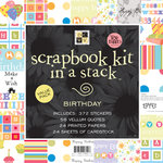 Die Cuts with a View - 12x12 Scrapbook Kit In a Stack - Birthday