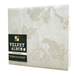 Die Cuts with a View - 12x12 Flocked Velvet Album - Champagne Brocade, CLEARANCE