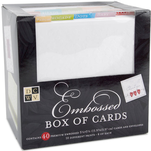 Die Cuts with a View - Box of Cards - Embossed Cards and Envelopes - 5.5 x 5.5