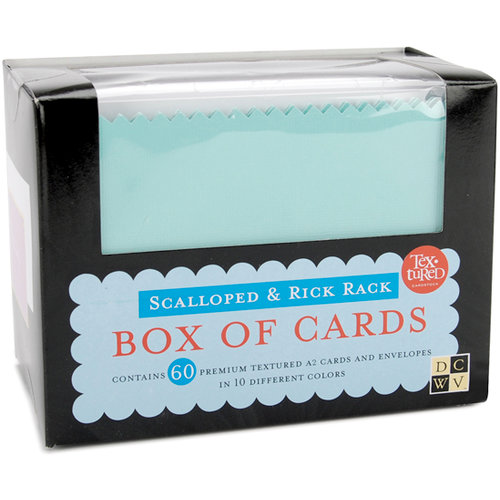 Die Cuts with a View - Box of Cards - Scalloped and Rick Rack Cards and Envelopes - A2 size