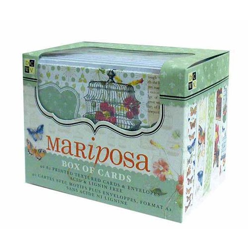 Die Cuts with a View - Box of Cards - Printed and Textured Cards and Envelopes - Mariposa - A2 Size