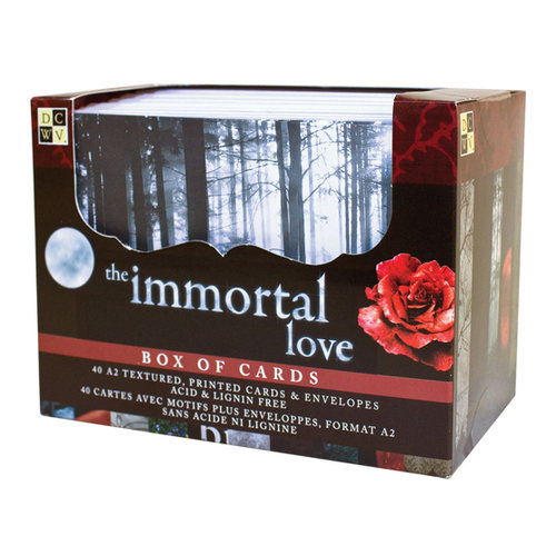 Die Cuts with a View - Box of Cards - Textured Cards and Envelopes - Immortal Love - A2 Size
