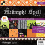 Die Cuts with a View - The Midnight Spell Collection - Halloween - Foil and Glitter Paper Stack - 12 x 12