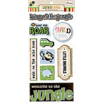 Die Cuts with a View - Safari Kids Collection - 3 Dimensional Stickers with Foil Accents - Boy Sayings, CLEARANCE