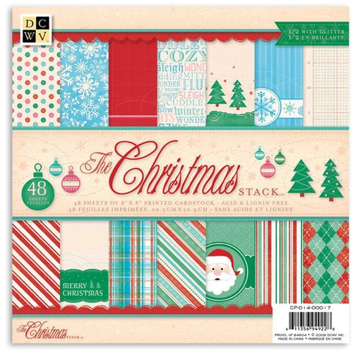 Die Cuts with a View - The Christmas Collection - Glitter Paper Stack - 12 x 12