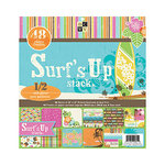 Die Cuts with a View - Surf's Up Collection - Glitter Paper Stack - 12 x 12