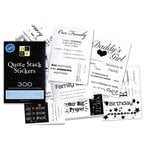 Die Cuts With A View - Quote Stack Stickers - 300 Sayings and Quotes - Clear Adhesive