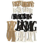 Die Cuts with a View - Chip Chatter Kit - Chipboard Alphabet - Neutrals - 152 Pieces, BRAND NEW