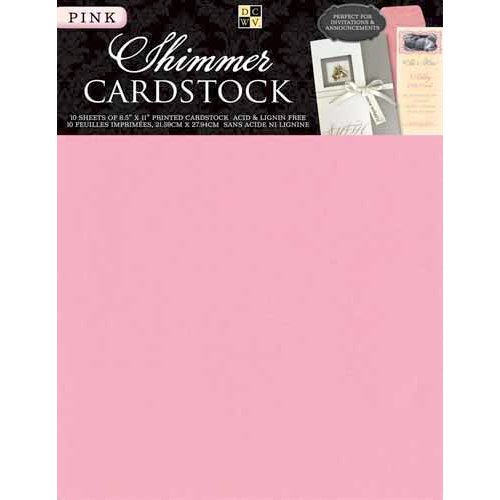 Die Cuts with a View - 8.5 x 11 Shimmer Cardstock Pack - Pink