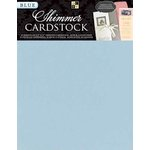 Die Cuts with a View - 8.5 x 11 Shimmer Cardstock Pack - Blue